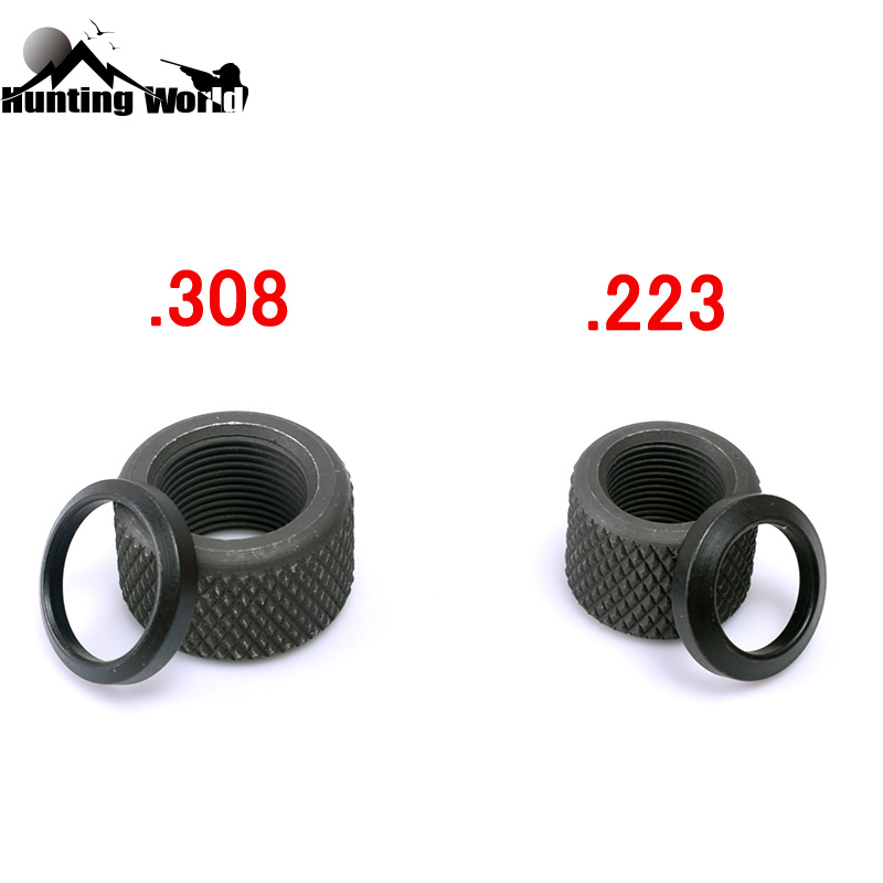 Thread Protector 1//2-28 Muzzle Brake 223 556 Black Steel with 2PCS Crush Washer