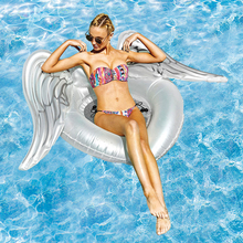 Giant White Angel Wing Inflatable Pool Float For Women 2018 Newest Summer Adult Swimming Ring Lounge Water Fun Toys boia piscina 60cm giant rainbow watermelon swimming ring for adult children summer inflatable pool float water toys piscina