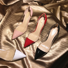 Free shipping fashion women Pumps lady Black patent leather point toe high heels 10cm 8cm 6cm