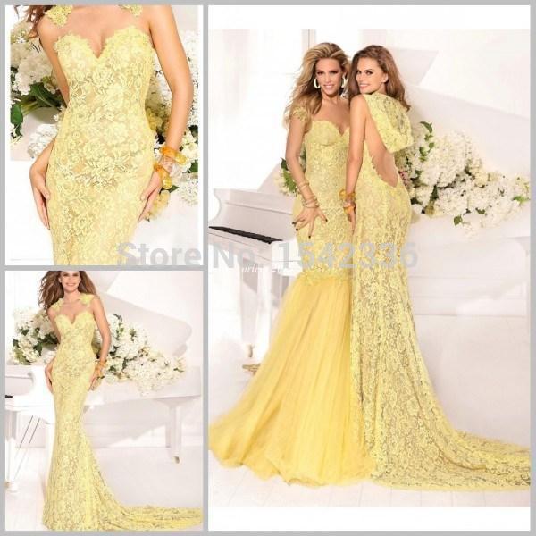 Aliexpress.com : Buy 2015 Celebrity Dress Tarik Ediz Yellow ...