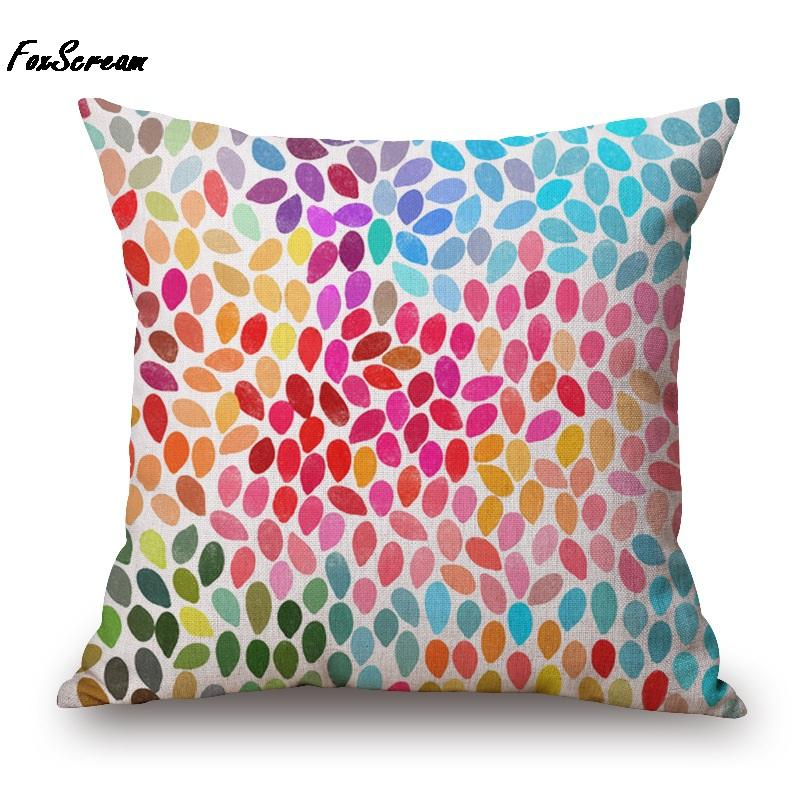 colorful pillow Rainbow Geometric Cushion Covers Neon Light Stripe Throw Pillows Covers Decorative Sofa Pillow Cases Kids Gift