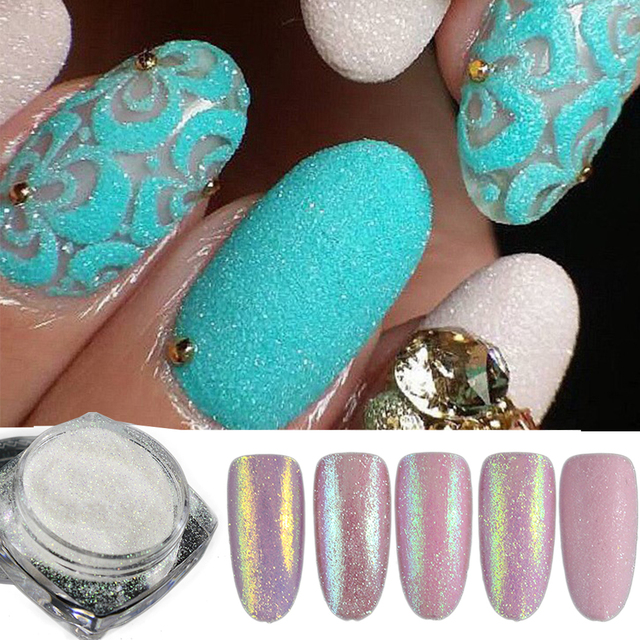 5pcs/set Holographic Nail Glitter Powder Shining Sugar Nail Glitter Dust Powder Nail Art Decorations Set DIY BETY01-05