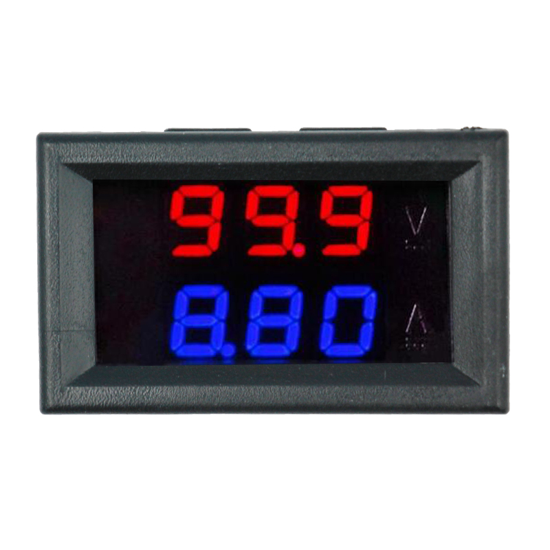 LED Amp podwójny cyfrowy miernik napięcia 0.28 DC 0-100V 0-10A woltomierz cyfrowy amperomierz Tester voltimetro