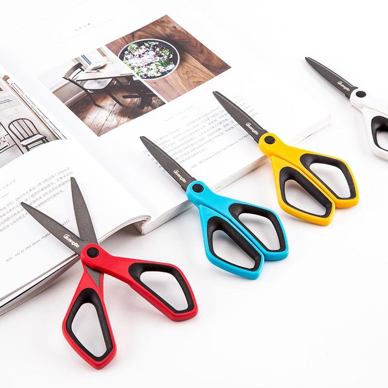 Fluorine Coated  Scissors Anti - Sticky DIY Scrapbooking Washi Tape Scissors Paper Cutting Office School Stationery