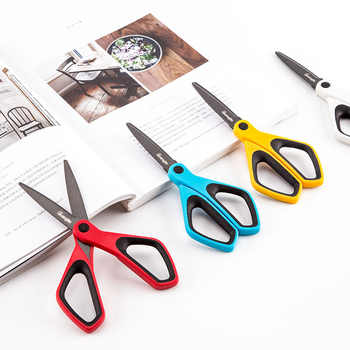 Fluorine Coated Scissors Anti - Sticky DIY Scrapbooking Washi Tape Scissors Paper Cutting Office School Stationery
