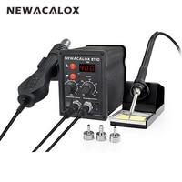 NEWACALOX EU Plug 220 V 700 W Stazione di Saldatura della Ripresa Termoregolatore Saldatore Dissaldante ad Aria Calda Pistola di Saldatura Tool Kit