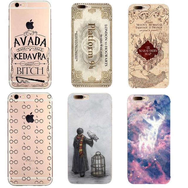 Casse del telefono Avada Kedavra Cagna Harry Potter Trasparente Molle casi Della Copertura Del Telefono Per iPhone 7 7 Più 6 6 s 6 Più 5 S SE 8 8 Plus X 10 Casi