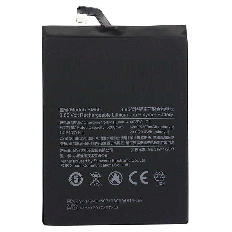 Batterie BM50 für xiaomi mi Max 2 Max2 Original Ersatz Batterie 5200 mah + WERKZEUGE