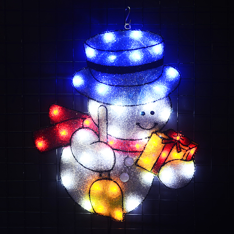 2D xmas snowman motif light - 20.5 in. Tall 24V christmas tree decoration outdoor holiday festival light navidad 2018 stylish christmas snowman embroidery festival beanie for men and women