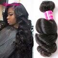 7a cabelo onda perder virgem cabelo 4 bundles malásia cabelo cheveux bresilien macio crochet cabelo malaio onda solta extensões de cabelo humano