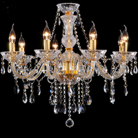 Vitrust Chandeliers 8 lights Modern gold crystal lamp K9 Clear crystal chandelier lighting Dining Living Bedroom Home Fixture