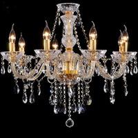 Chandelier 8 Light Modern Fashion Gold Crystal Lamp Crystal Chandelier Light Fashion Crystal Chandelier Lighting