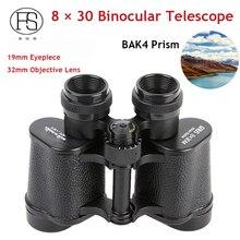 Discount! 8 x 30 Tactical Binoculars Telescope BAK4 Prism Military Hunting Binoculars Outdoor Climbing Camping Metal Binoculars Telescope
