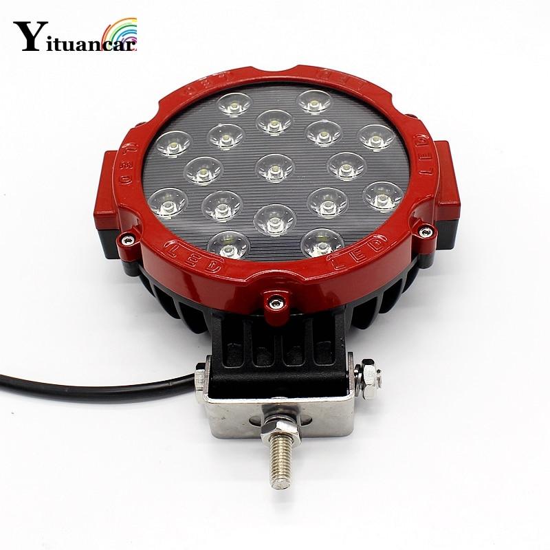 Yituancar 1X 51W 7 դյույմ կարմիր կլոր - Ավտոմեքենայի լույսեր - Լուսանկար 1