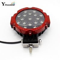 1Pcs 51W 7 Inch Red Round LED Work Light Styling For Driving Offroad Truck 4x4 4WD