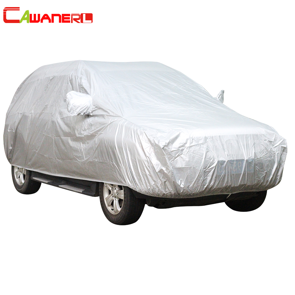 Cawanerl SUV Car Cover Sunshade Outdoor Sun Rain Snow Cover Anti UV Scratch Resistant Dustproof Car Accessories Universal image