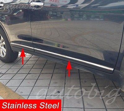 Steel Door Body Strips For Nissan Rogue X Trail T32 2014 2016 Molding Accessory