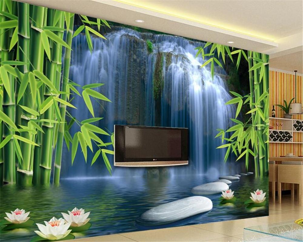 Beibehang 3d Wallpaper Bamboo Forest Spring 3D TV Backdrop Living Room Bedroom TV Background Mural photo wallpaper for walls 3 d