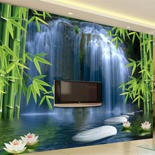 Beibehang 3d Wallpaper Bamboo Forest Spring 3D TV