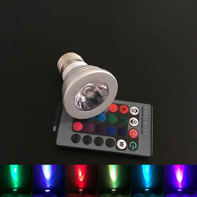 E27 E14 GU10 RGB Светодиодный прожектор волшебный RGB Светодиодный светильник с ИК-пультом дистанционного управления 16 цветов