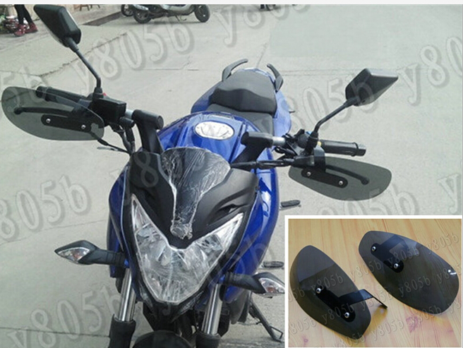 US $25 29 |Motorcycle Smoke Hand Guard Wind Deflector For Honda Yamaha  Suzuki Kawasaki Harley Bobber Custom Chopper Cruisers Street Bike-in