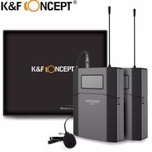 K & F KONSEPT Kablosuz Kamera Mikrofon Ile Taşınabilir Video MIC Alıcı Verici Canon Nikon SONY DSLR Kamera Için Mikrofonun