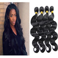 7A Body Wave Indian Virgin Hair Sale 4PCS Long Hair Weave 100% Human Virgin Hair Jet Black #1 Wavy Human Hair Extensions 05B442