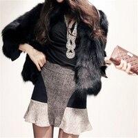 amazon hot sale fashion women's long jacket cheap faux fur coat china fur parka