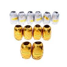 6 шт./компл. 10 м стример вечерние свадебные украшения подарочный шар струны события и вечерние золотые серебристые, Лазерные Ленты для завивки с днем рождения