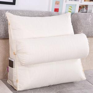 Image 5 - Smelov เตียงสามเหลี่ยมพนักพิงหมอนใหญ่กลับสนับสนุนหมอนข้างเตียง Lumbar Lumbar Cushion Lounger หมอน