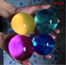 10pcs/lot Pearl Shape 13-16mm Crystal Soil Mud Growing Up Magic Jelly Ball Wedding Home Decoration Hydrogel Water Beads