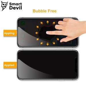 Image 3 - SmartDevil Protector de pantalla Anti reflejo para iphone X DE PRIVACIDAD DE de vidrio templado privado para iphone X película Anti espía cubierta protectora