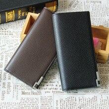 Ulrica 2016 Business herren Geldbörsen Solid PU Leder Lange Brieftasche Tragbare Kassen Schürzt Casual Standard Brieftaschen Männlichen Clutch Taschen