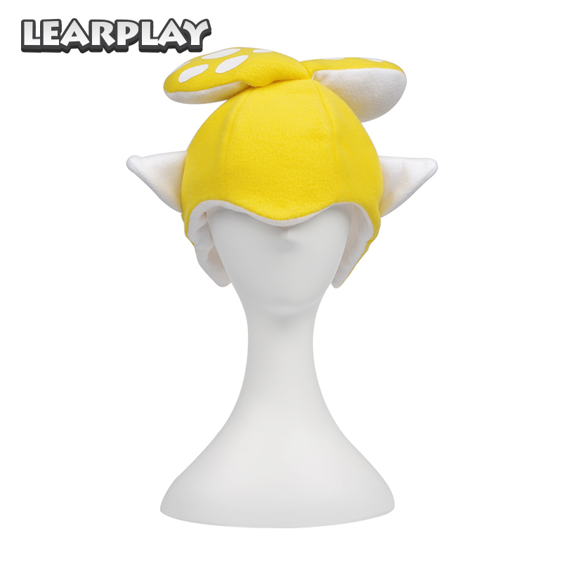 aad2e4c7 Splatoon 2 Splatfest Inkling Squid Cosplay Hairpin Hat Mask yellow Party  Balaclava Cap Costumes Gift for