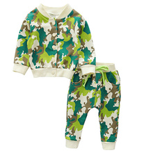 Unisex Baby Boys Girls Colors Coat Tops T Shirts Pants Jackets Sets Toddler Kids Children Casual Pullover Trousers Clothing Sets