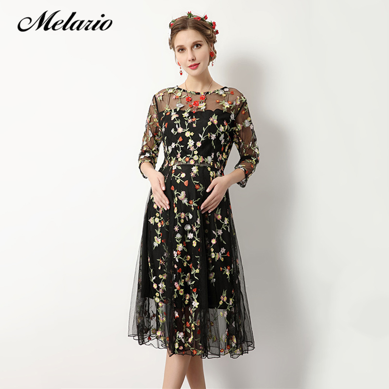 Melario Maternity dress 2018 Maternity Photography Props women clothes Maternity Dress Flower Embroidery Summer Pregnant Dress цена 2017