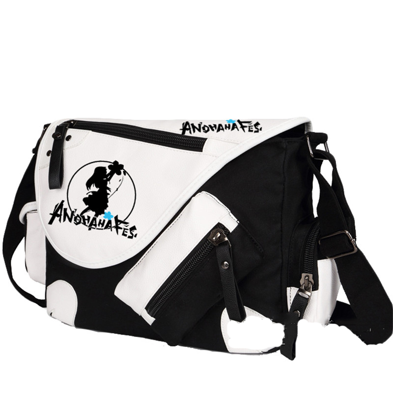 Anohana High Quality Hot Canvas Shoulder Bag Students Boys Girls Messenger Bags Free Shipping