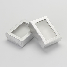 7*9cm Jewelry Sets Display Box 60pcs/lot Silver Cardboard Necklace Earrings Ring Packaging Gift Boxes With White Sponge