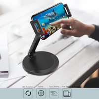 Metal Tablet Holder For 4.0 To 11 inch Mount Tablet & Cell Phone Holder 360 Desgree Rotate For Samsung Huawei iPad Tablet Stand