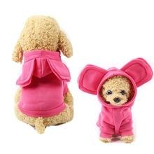 B1 Linda oreja grande capucha para perro mascota ropa cachorro gatos cálida sudadera lana para Chihuahua Yorkie Sudadera para perro pequeño abrigo disfraz