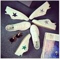 Zapatos de Mujer 2017 de la moda transpirable zapatos casuales las mujeres zapatos de lona blancos de primavera y verano zapatos de un solo