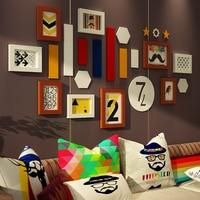 Çok çerçeve Resim Çerçevesi Ev Dekor Oturma Odası Moda Klasik Galerisi Resim Fotoğraf Çerçevesi Set Katı Ahşap Duvar Dekorasyon DIY