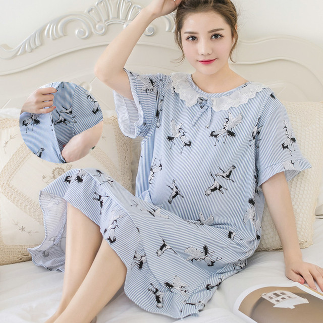 c3381446e3d1c maternity breastfeeding nursing nightgowns room wear sleepwear nightie  mothers nightwear breast feeding pajamas pregnancy dress