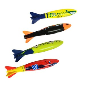 4Pcs/Set Diving Torpedo Underwater Swimming Pool Playing Toy Outdoor Sport Training Tool for Baby Kids Swimming Toy