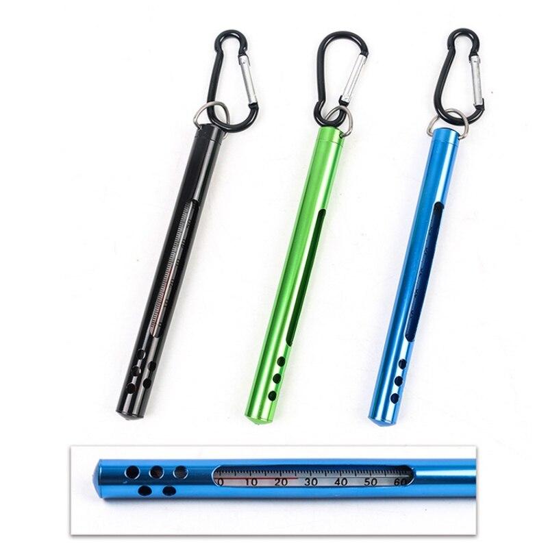 Edelstahl Angeln Thermometer Wasser Thermometer mit Karabinerhaken