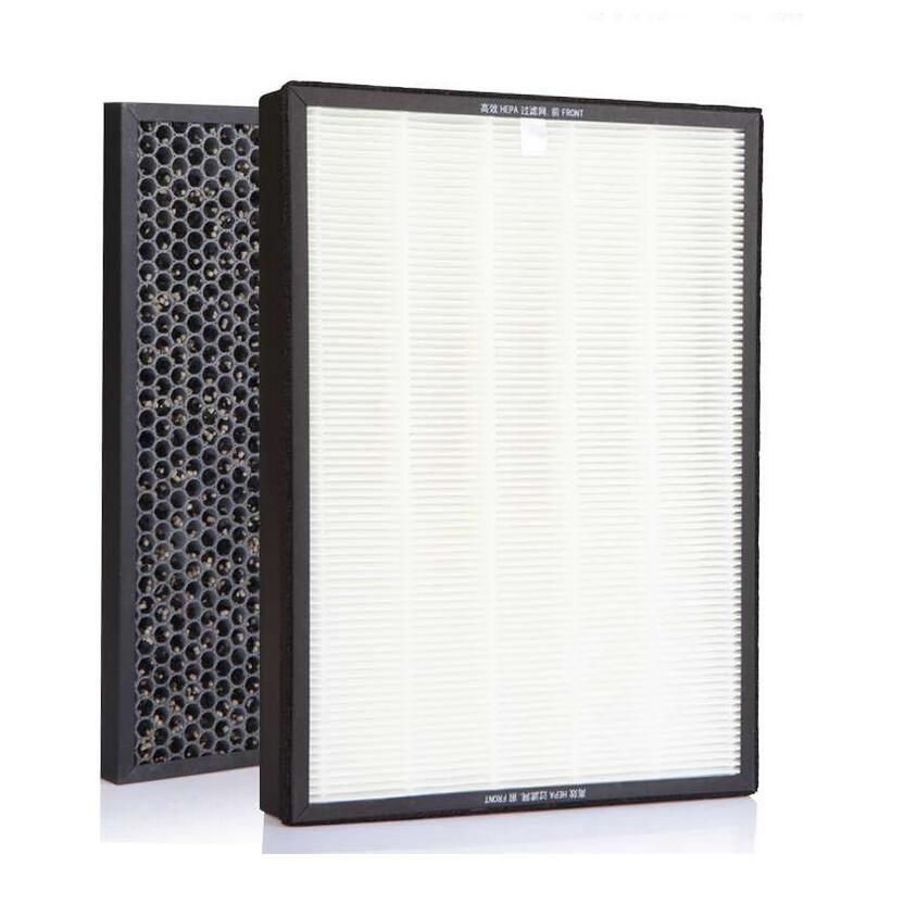 For Sharp KI-GF60 FX/EX75 WF606 Air Purifier Heap Filter 432*238*35mm+Actived Carbon Filter 432*238*10mm 2pcs set high quality actived carbon heap car air filter for bmw f18 f10 f11 car air conditioner air purifier freshener