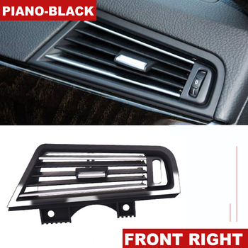 LHD Left Hand Drive Piano-Black Front Right Wind Air Conditioning Vent Grill Outlet Panel Chrome Plate For BMW 5 Series F10 F18 image
