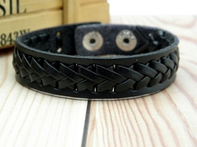 New Vintage Leather Cuff Braid Bracelets Handmade Wristband Bracelet Jewelry Black Brown For Men Women Gifts Best Price