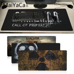 Image 1 - MaiYaCa New stalker logo gas mask Laptop Gaming Mice Mousepad Large Gaming Mouse Pad Anti slip Locking PC Computer desk mat