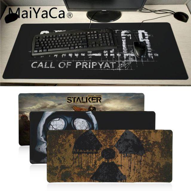MaiYaCa New stalker logo gas mask Laptop Gaming Mice Mousepad Large Gaming Mouse Pad Anti slip Locking PC Computer desk mat
